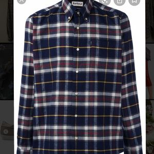 Barbour castlebay 2X men's plaid flannel shirt